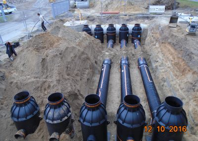 Abwasserbetrieb TEO – Erschließung Gewerbegebiet